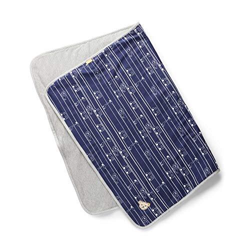 Steiff Newborn Boys Kuscheldecke/Decke für Bett o. Kinderwagen navy blau gemustert