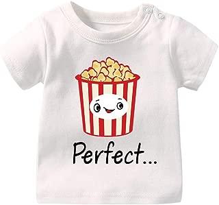 Unisex Baby Bodysuit Boy Girl Short Sleeve T-Shirt A Pair Newborns Toddler Tee Shirts