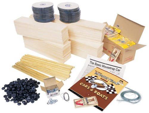 Pitsco Balsa Wood Mousetrap Vehicle Kit (For 30 Students)