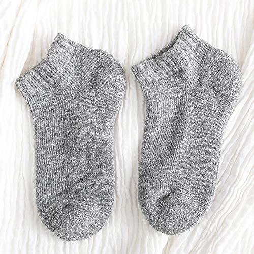 Terry Bottom Mujeres Calcetines Invierno Harajuku Moda Calcetines Gruesos Mujeres 100 Algodón 1 Par Gris