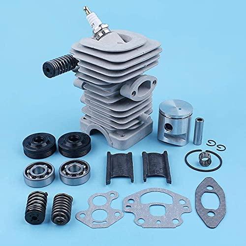 Kit de sello de aceite de cojinete de cigüeñal de pistón de cilindro de 39 mm compatible con McCulloch CS340 CS380 CS 340380 S Motosierra 38CC Piezas de repuesto Piezas de repuesto