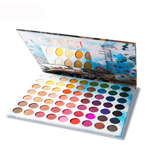 DOUBLZ 63 Couleurs Vives Fard à paupières, Palette de Fard à paupières Kit de Maquillage Palette de Couleur pour Les Yeux Palette Professionnelle Kit de Maquillage Naturel Ombre à paupières