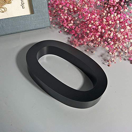Placa de Casa Flotante 3D Número 0-9 Letra ABC 6 Pulgadas, Placas de Metal de Acero Inoxidable Negro Para Puertas Al Aire Libre Hotel Alfabeto Digital, Montado En Tornillo, Impermeable Anti-Óxido