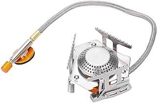 Quemador de Gas de Picnic port/átil al Aire Libre de 3500 W Plegable Mochilero Camping Mini Estufa de Metal Suministros de Barbacoa Cocina de Gas JULYKAI Quemador de Gas de Picnic