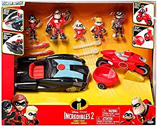 The Incredibles 2 Junior Super Family 8 Pack Toy Play Set Gift. Action Figure