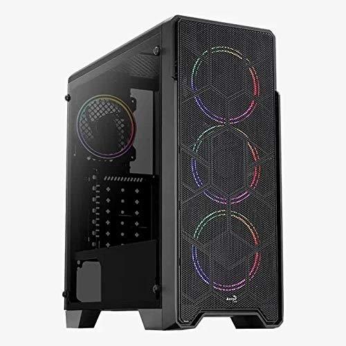 Aerocool Ore - Caja de Torre de Cristal Templado, Color Negro