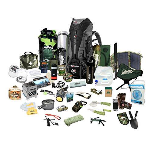 Prep Store Elite Emergency Pack - Emergency Survival Pack - Survival Kit - Bugout Bag - Hurricane...