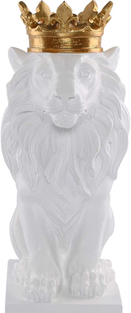New White Lion King Statue HW and Home New sales Deco Max 44% OFF Study Style Nordic