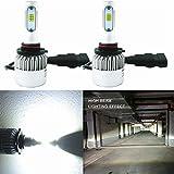Alla Lighting HB3 9005 LED Bulbs Extreme Super Bright CSP 6000K ~ 6500K Xenon White 9005XS 9005LL Conversion Kit DRL Replacement for Cars, Trucks