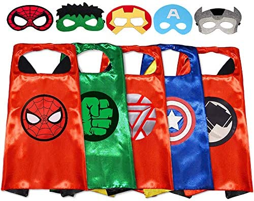 Superhero Capes with Masks Dress up Costumes Halloween Christmas Cosplay Festival Birthday Party product image