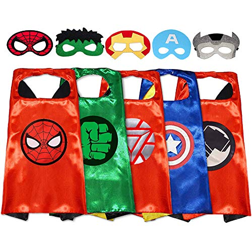 Superhero Capes with Masks Dress up Costumes Halloween Christmas Cosplay Festival Birthday Party Favors for Kids