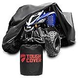 Tough Cover Premium ATV Cover. Heavy Duty 600D Marine Grade Fabric. Quad Cover for Kawasaki, Arctic Cat, Honda, Polaris,Yamaha, and More. Protection Against Water, Wind, UV. 4 Wheeler Accessories.