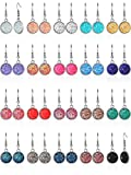 20 Pairs Faux Druzy Drop Earrings Simulated Stone Dangle Earrings Rainbow Crystal Earrings (Round Shape Style)