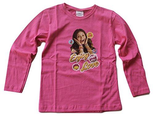 SOY LUNA Disney Langarmshirt (128 - ca. 8 Jahre, pink)