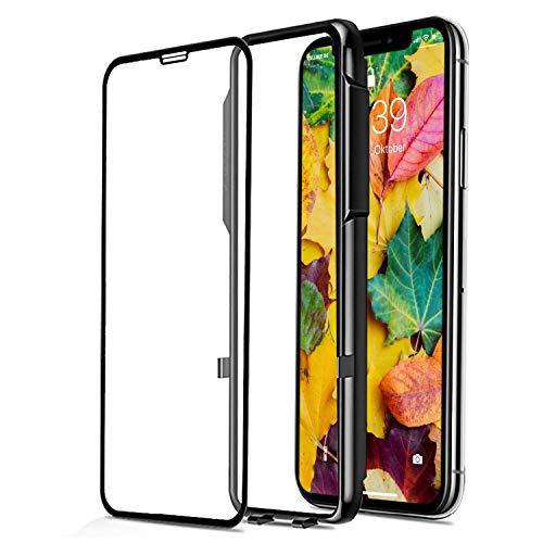 CELLBEEPanzerglas Kompatibel MitiPhone XS 11 Pro Max Panzerglasfolie, Curved,inkl.Applikator, Staubfrei, Notch Unsichtbar, Premium Displayschutzfolie,4DSchutzfolie,SchwarzGlas Panzerfolie