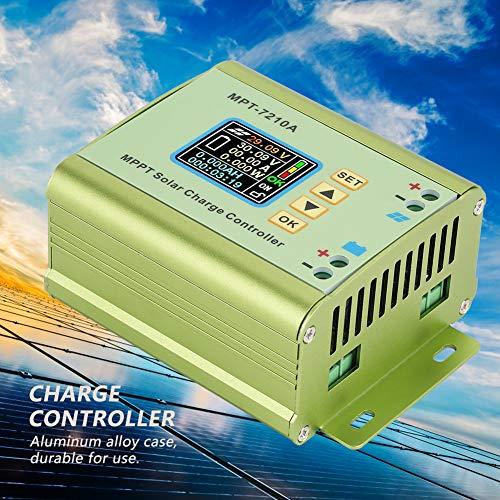 Plyisty Regolatore di Carica, MPT-7210A Regolatore di Carica del Pannello Solare Regolatore di Carica della Batteria in Lega di Alluminio per Batteria e Carica della Batteria