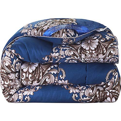 YRRA Dicke, warme Bettdecke, europäischer Stil, für den Winter, Daunen, Baumwolle, schnell, leicht, weich, für Schlafzimmer, Haus, Blau, 150 x 200 cm (3 kg)
