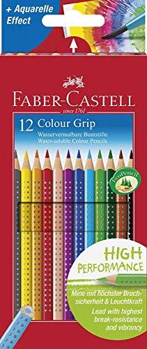 Faber-Castell 112412 - Buntstifte Colour Grip, 12er Kartonetui