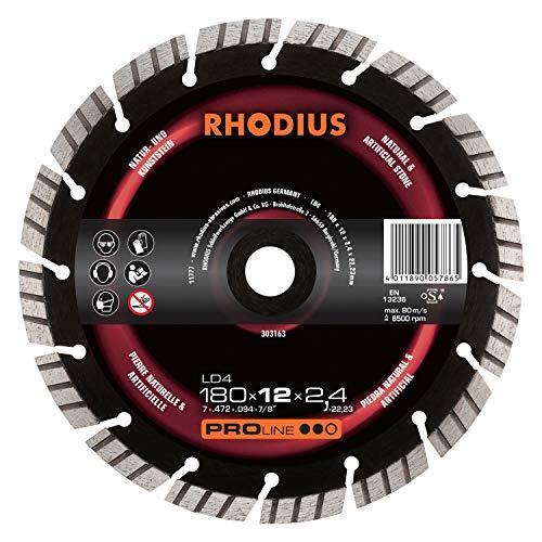 RHODIUS diamantslijpschijf natuursteen LD4 Ø 230 mm voor haakse slijpers en vaste slijpmachines 1 stuk