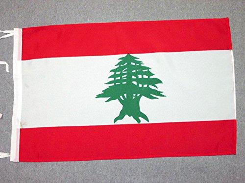 AZ FLAG Flagge LIBANON 45x30cm mit Kordel - LIBANESISCHE Fahne 30 x 45 cm - flaggen Top Qualität