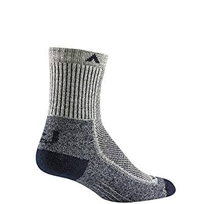 Wigwam Cool-Lite Hiker Mid-Crew F6230 Sock, Grey/Navy - X-Large