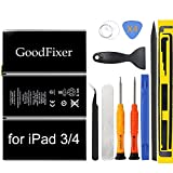 GoodFixer Battery Replacement for iPad 3 iPad 4, A1416,A1430,A1403,A1458,A1459,A1460,with Full Repair Tools Kit, New 0 Cycle Replacement Battery [365 Days Warranty]