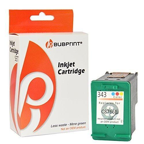 Bubprint Druckerpatrone kompatibel für HP 343 HP343 für Deskjet 5900 5940 5950 6840 6940 6980 Officejet 100 150 Mobile 6300 6310 6315 H470 K7100 Farbe