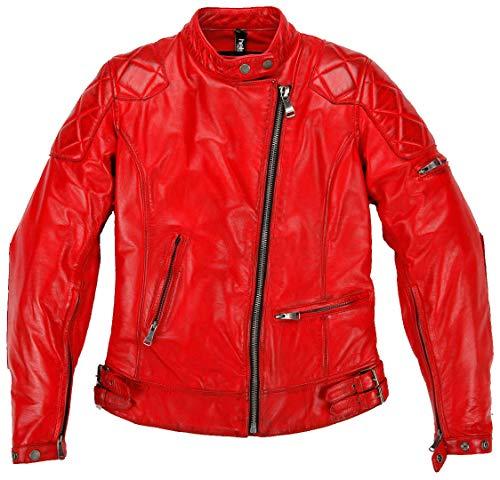 Helstons Motorradjacken Ks 70 Frau Rindspaltleder Rot, Rot, S