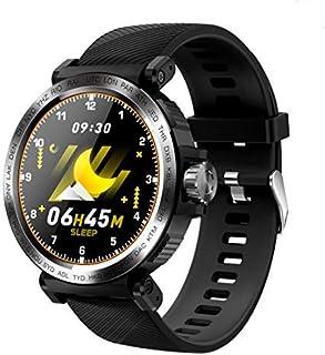 QLKJ Reloj Inteligente Mujer y Hombre Impermeable IP68 Pulsera Actividad con Monitor de Sueño Pulsómetro Pantalla Táctil Completa Reloj Fitness