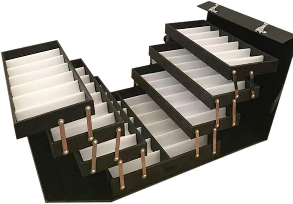 TFCFL 48 Slot Medium Sunglass Case Suitcase Card Eyeglasses Display Organizer Eyeglasses Storage Lockable Case Organizer