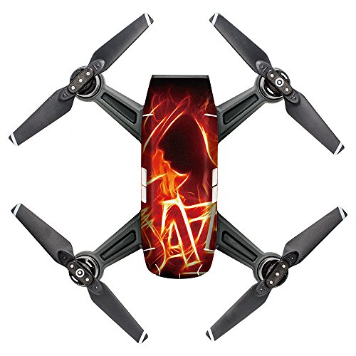 TOPUNDER Waterproof Decal Skins Wrap Sticker Body Protector for DJI Spark Mini Drone (F)