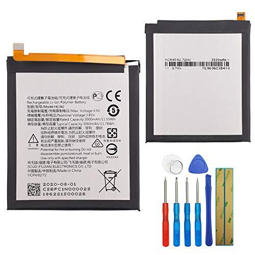 Batería de repuesto HE342 compatible con Nokia 7.1 Nokia 6.1 Plus X6 2018 con herramientas.