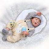 WYZQ Muñecas Reborn, Muñecas nutritivas, Simulación Muñeca de Renacimiento Silicona Bebé Lindo Llegada Agua Acompañar Juguete Niño Regalo de cumpleaños Creativo 57CM Muñecas nutritivas