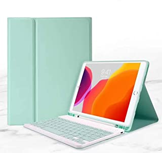 for Newest iPad 8th Generation (2020)/7th Generation(2019) 10.2 inch Keyboard Leather Case,Removable Slim Lightweigh Folio...