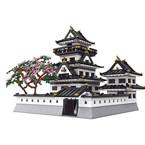 UNU_YAN Calle Vista Famoso Edificio Serie Himeji Castillo montado Rompecabezas Edificio Adulto Alto dificultad de construcción Modelo de Juguete