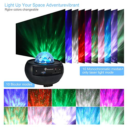 HD Mini Music Starry Projector, Bluetooth Remote Control Projector