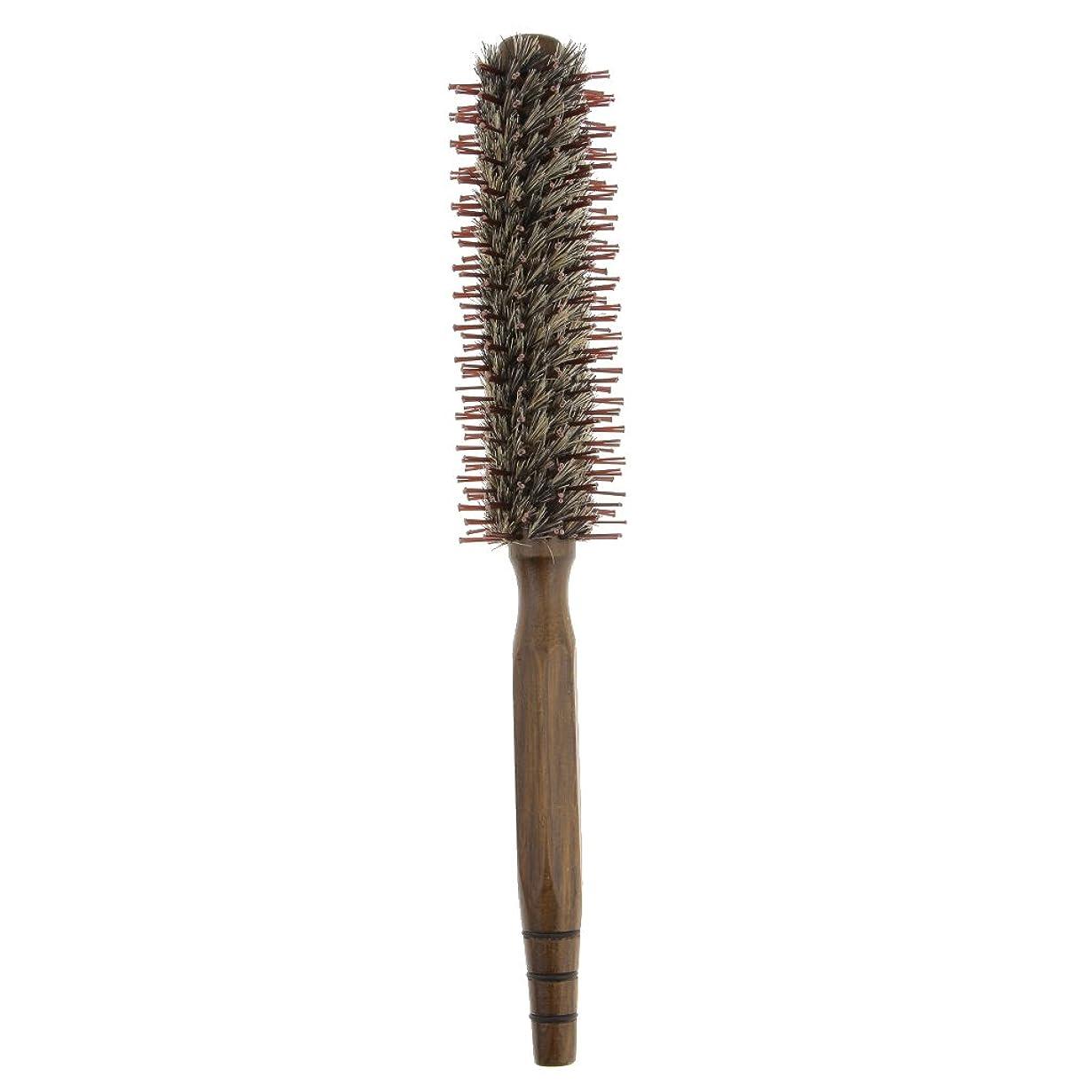 出費弓弾丸Baosity ロールブラシ ヘアコーム 木製櫛 くし ヘアスタイリング 高品質 3サイズ - S
