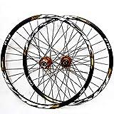 GJZhuan MTB de Ruedas de 26 '' 27,5' 29' 32 Agujeros del Disco de Freno de Rueda de Bicicleta MTB Quick Set Cono Lanzamiento Hub 7/8/9/10/11 Velocidad (Color : Yellow, Size : 27.5inch)