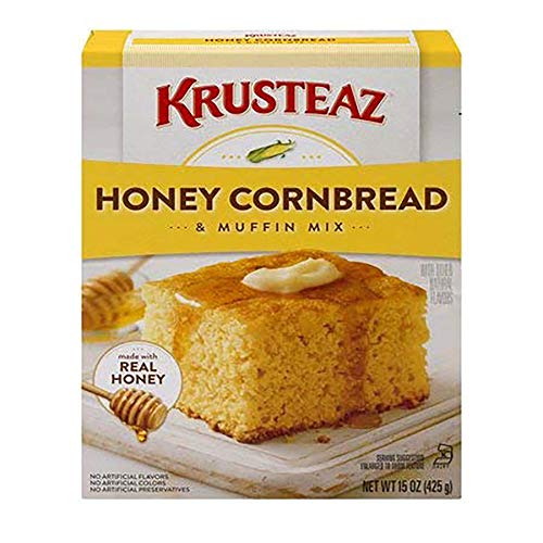 Krusteaz Honey Cornbread and Muffin Mix - No Artificial Colors, Flavors or Preservatives - 15 OZ (Pack of 1)