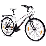 KCP 26' City Bike Trekking Bike Wild Cat Lady White Black - (26 Inch)