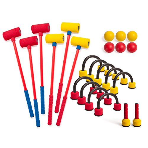 Champion Sports Foam Croquet Set: Classic Outdoor Lawn and Party Game for...
