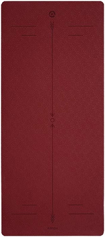 YXLZZO TPE Yogamatte verbreitert Dicke 6 mm Dicke, Rutschfeste Bodenmatte für Anfnger Tapis de Yoga (Farbe   D)