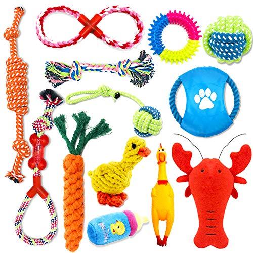 Giocattoli per Cani,13 Pezzi Giochi Cane,Giocattoli da masticare per cuccioli,in corda di cotone,lavabile,per cani di taglia piccola e media