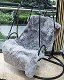 DAOXU Piel de Imitación,Cozy sensación como Real, Alfombra de Piel sintética Lavable para sofá o Dormitori (50 x 150 Gris)