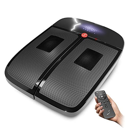 Sportstech 2in1-Vibrationsplatte 3D Massage & Fitness zuhause | Massagegerät mit Wärme (40 °C) gegen kalte Füße | Rüttelplatte für Sport & Abnehmen schnell + Fernbedienung & LED-Display | VX350