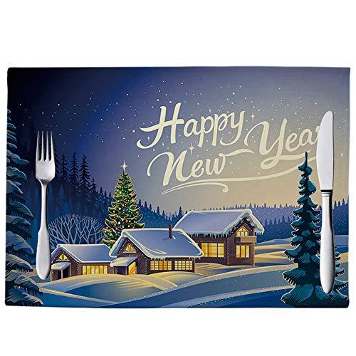 meimie00 Praktisch voor kinderen en volwassenen – antislip, afwisbare placemats van kunststof – decoratieve placemats als onderlegger voor borden op de eettafel.