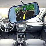 Hakeeta Espejo retrovisor del autom/óvil Compatible con la c/ámara de Respaldo del autom/óvil Pantalla Duradera del autom/óvil de 7 Pulgadas LCD Monitor de atenuaci/ón autom/ática Accesorios.