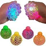 Tobar 30236 Glitter Squishy MESH Ball, Disponibili 3 Colori : Azzurro, Rosa E Verde