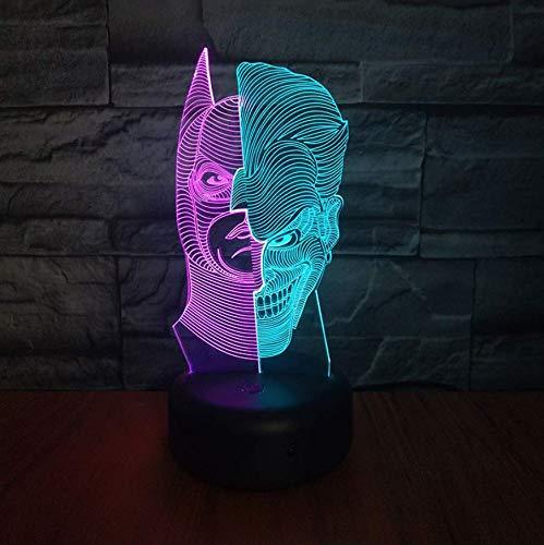 Joker 3D Lampe De Nuit Batman Hit Couleur Décor Chambre Décorative Lampe Enfant Enfants Veilleuse Cadeau Superhéros Led Veilleuse