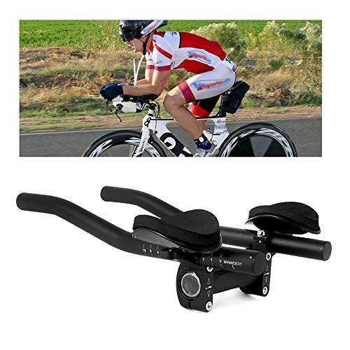 Lenkeraufsatz Fahrrad Ruhe Lenkeraufsatz Lenkebügel TT Armauflage für Rennräder und Mountainbike (Schwarz)